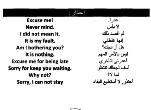 الاعتذار في اللغة الانجليزية Apology In English English 100