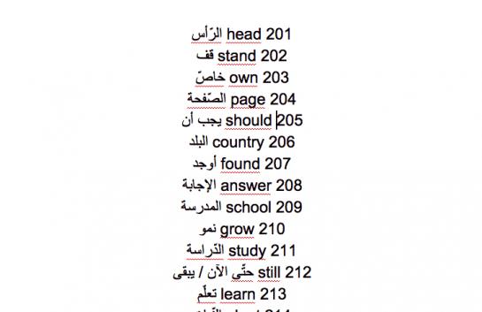 300 كلمة انجليزية شائعة