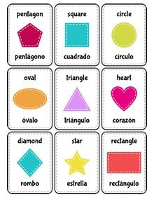 shapes in english