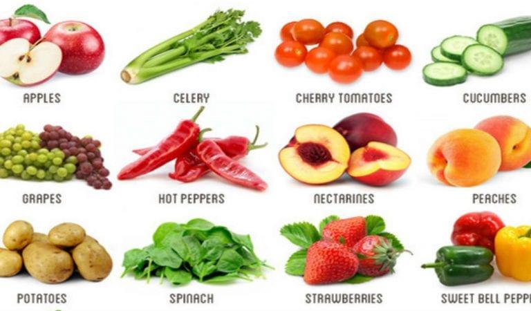 الفواكه والخضروات باللغة الانجليزية مع النطق