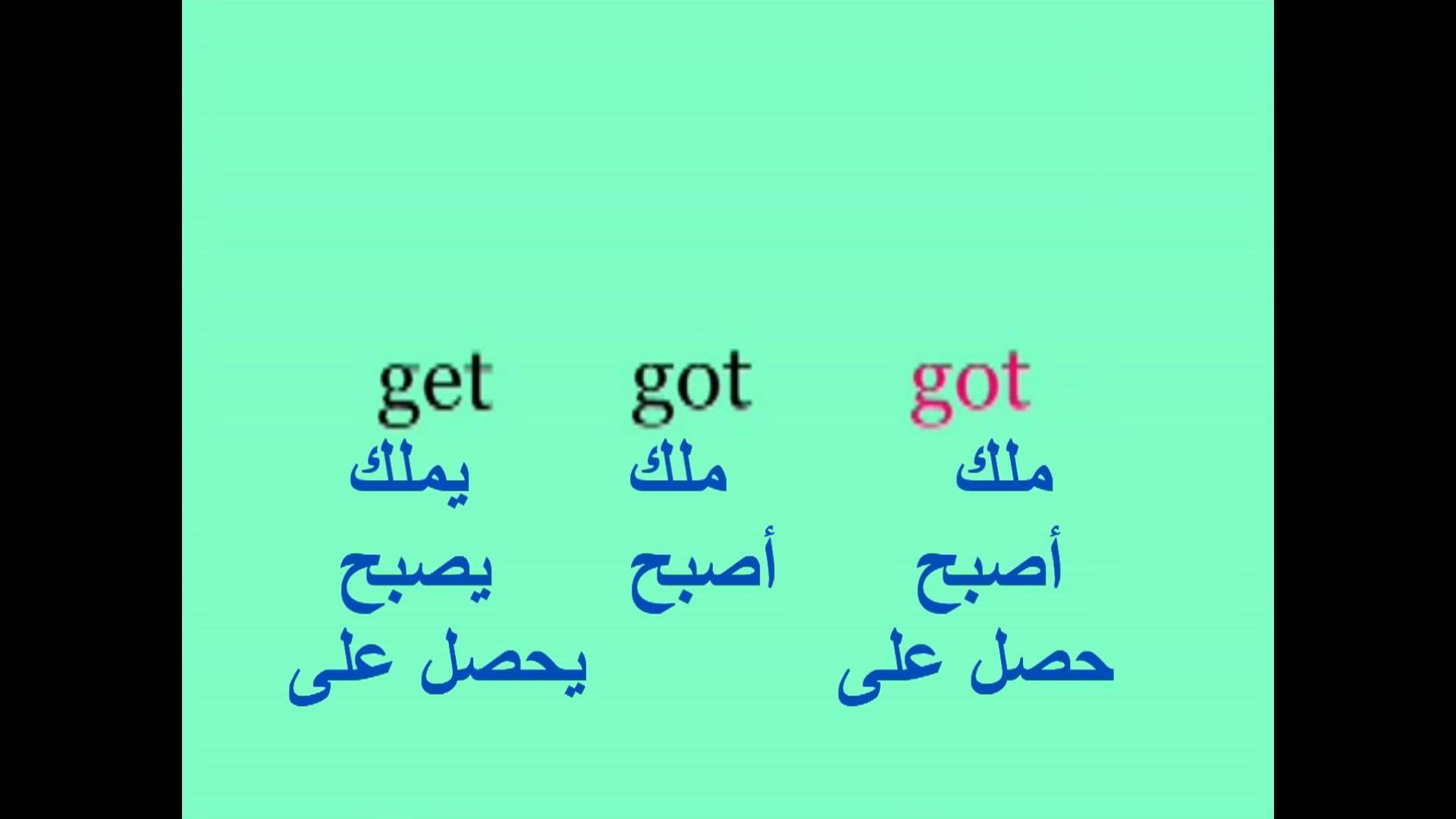 صيغ الافعال في اللغة الانجليزية