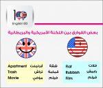 الفرق بين الانجليزية الامريكية و الانجليزية البريطانية