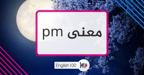 معنى pm pm meaning