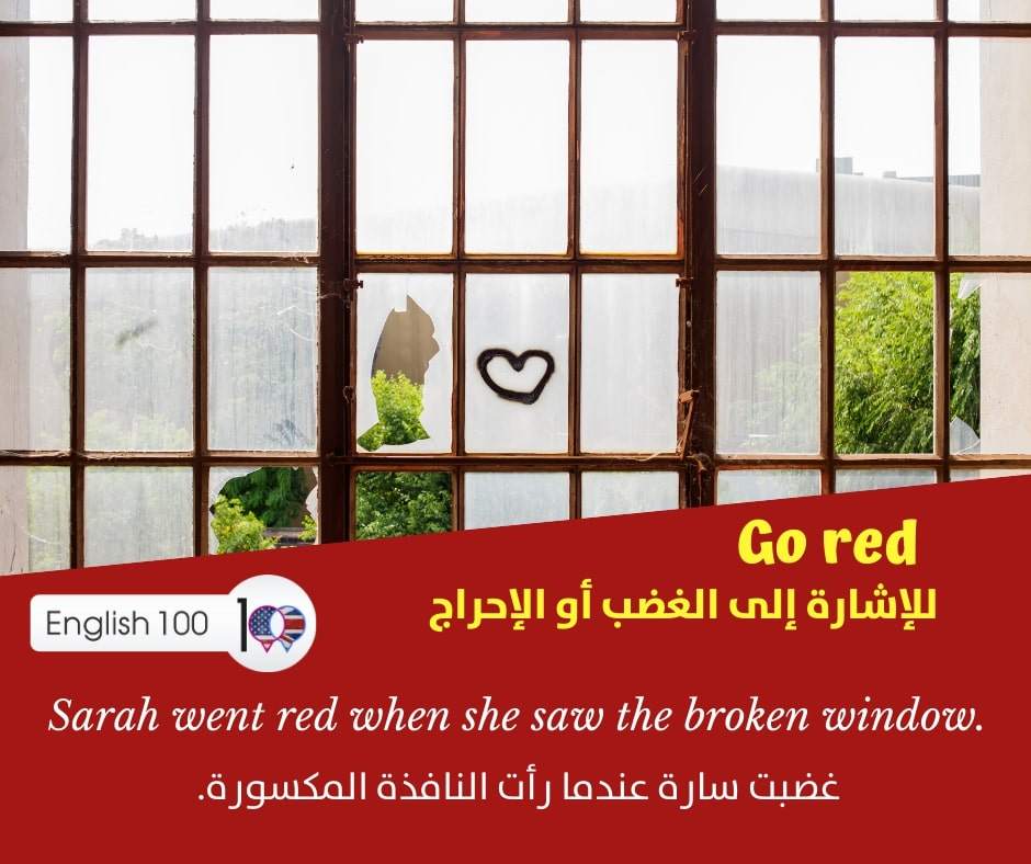 احمر بالانجليزي Red in English