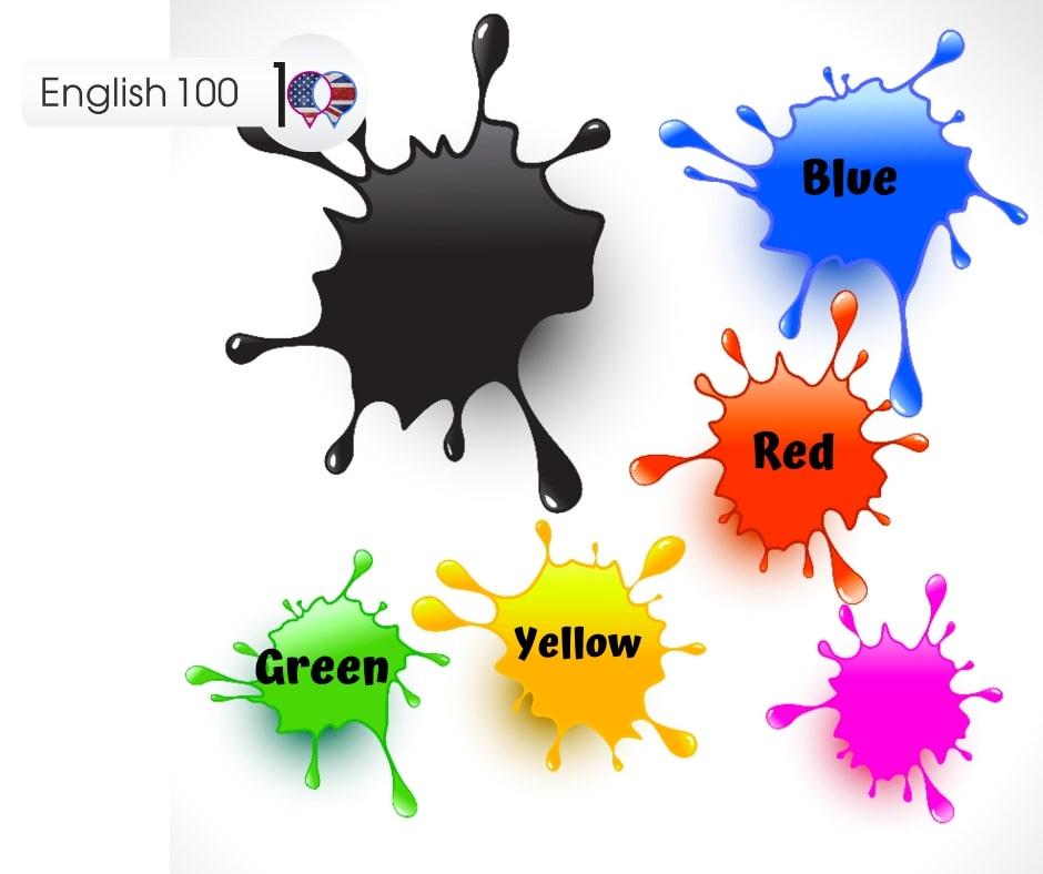 تعليم الالوان بالانجليزي والعربي English 100