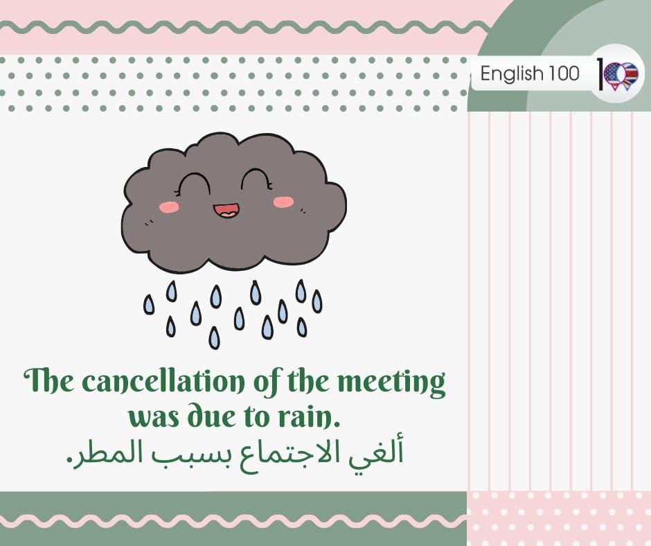 المطر بالانجليزي The rain in English