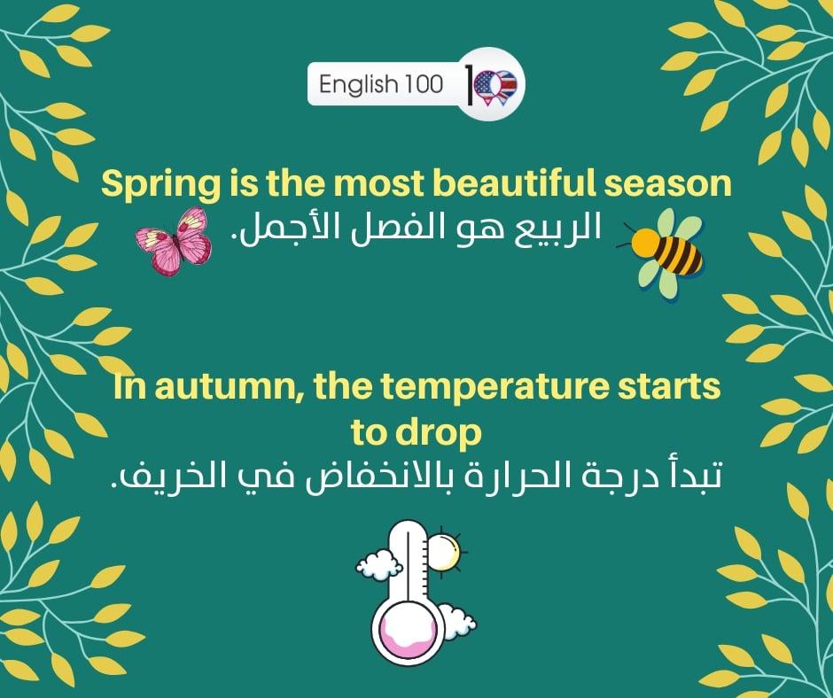 وصف الفصول الاربعة بالانجليزي Four seasons description in English