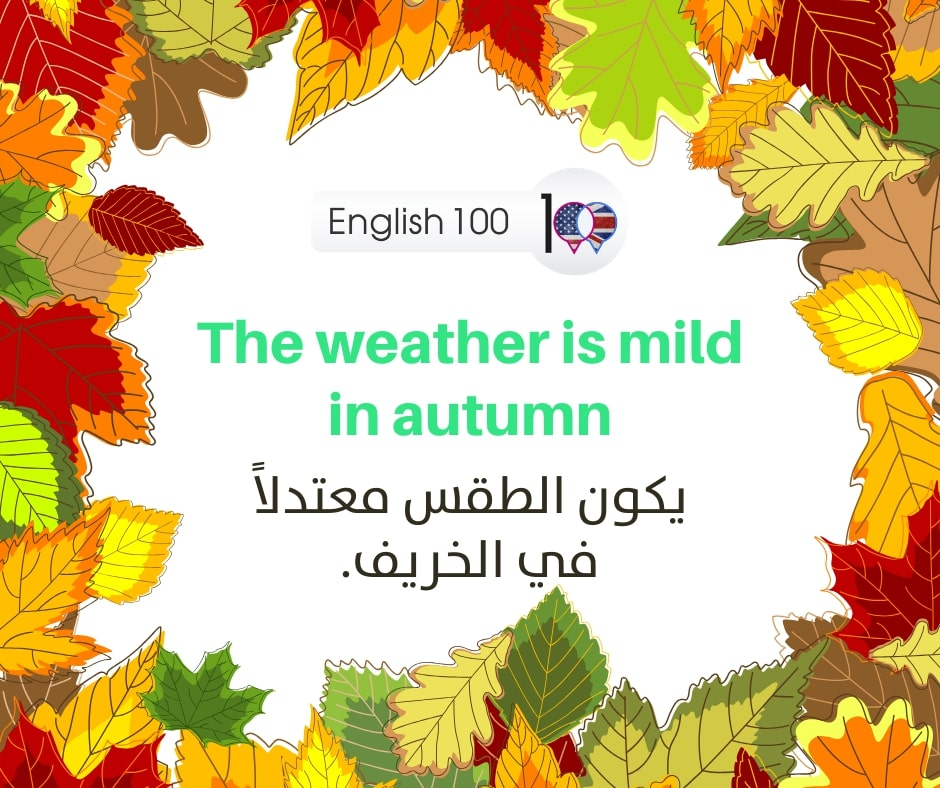 معنى الخريف بالانجليزي Meaning of fall in English