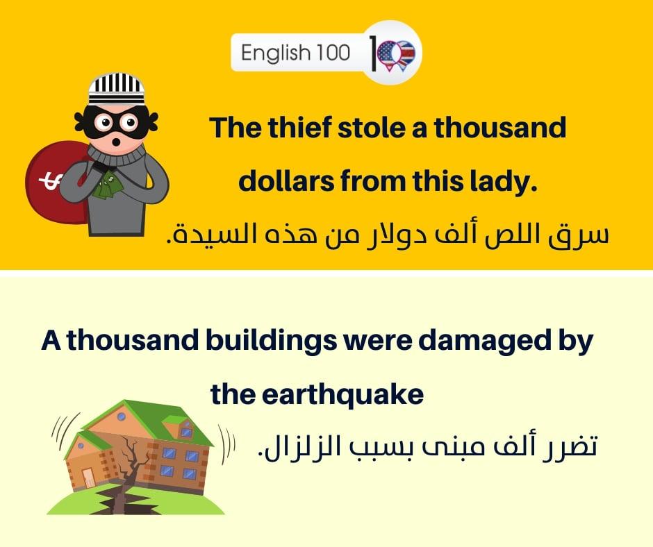رقم 1000 الف بالانجليزي Number Thousand in English