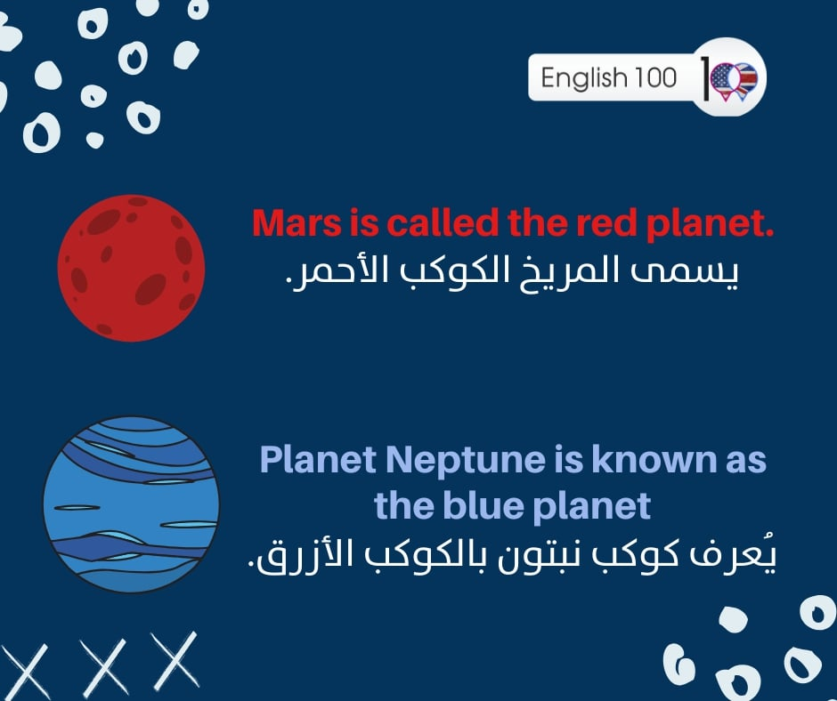 كوكب بالانجليزي Planet in English