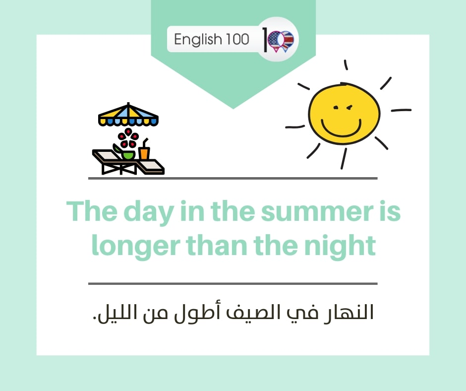 فصل الصيف بالانجليزي Summer season in English