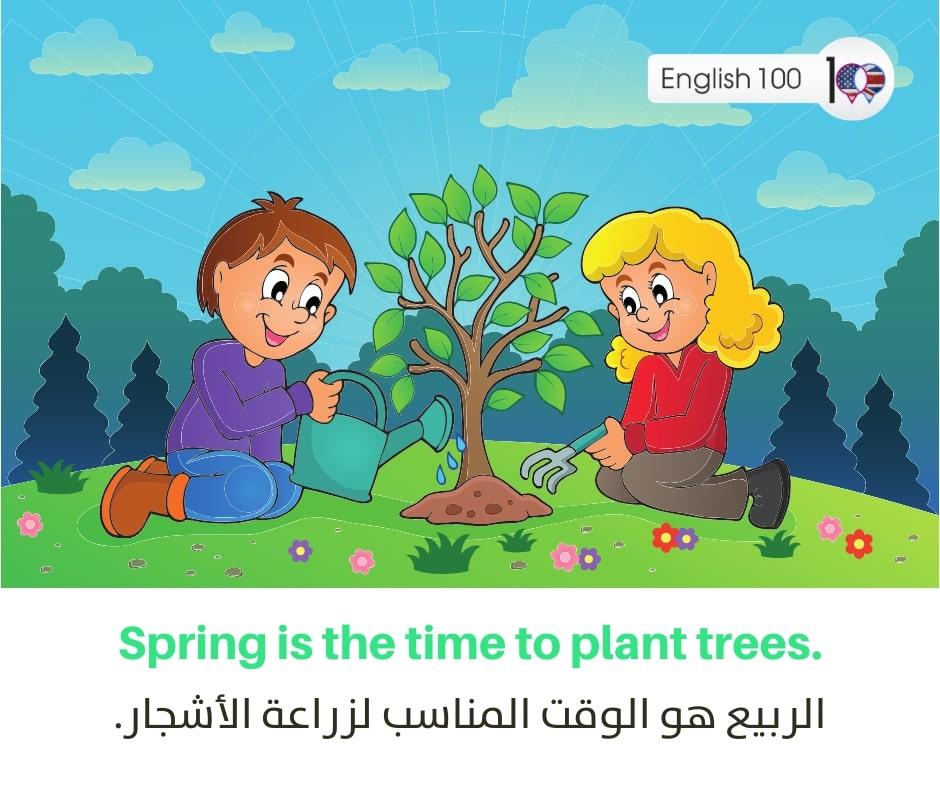 الربيع بالانجليزي The spring in English