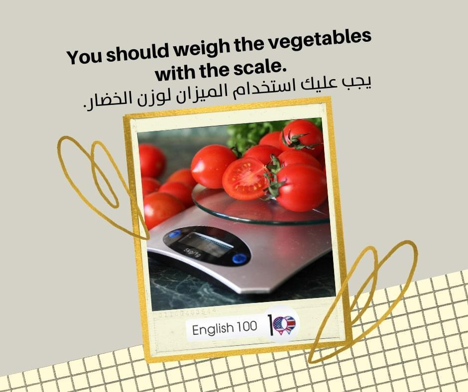 ميزان الوزن بالانجليزي Weight Scale in English
