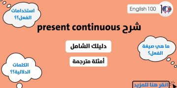 Present Continuous Explanation with examples