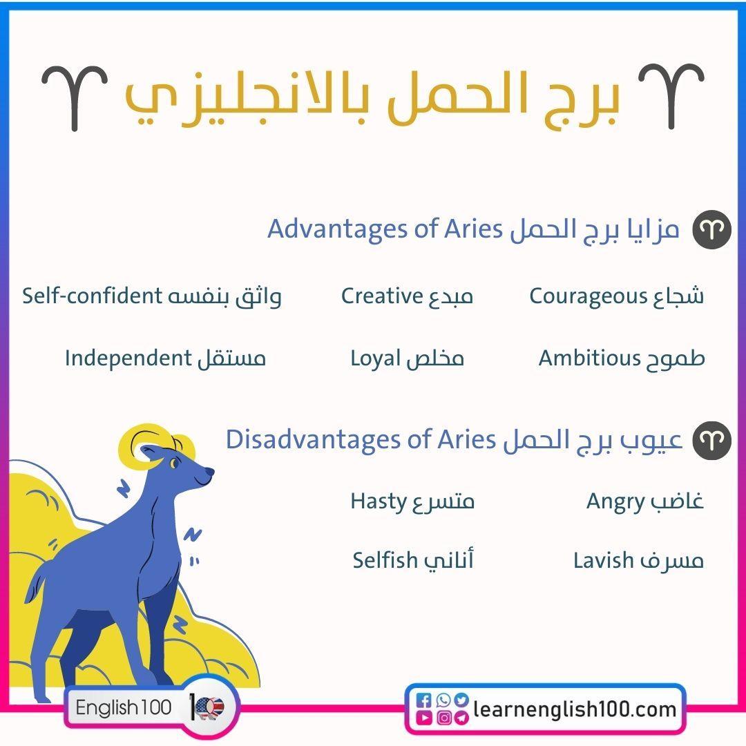 برج الحمل بالانجليزي Aries in English