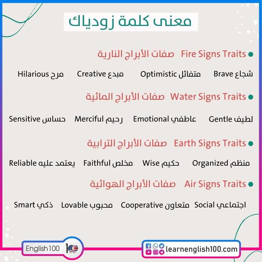معنى كلمة زودياك Meaning of the Word zodiac