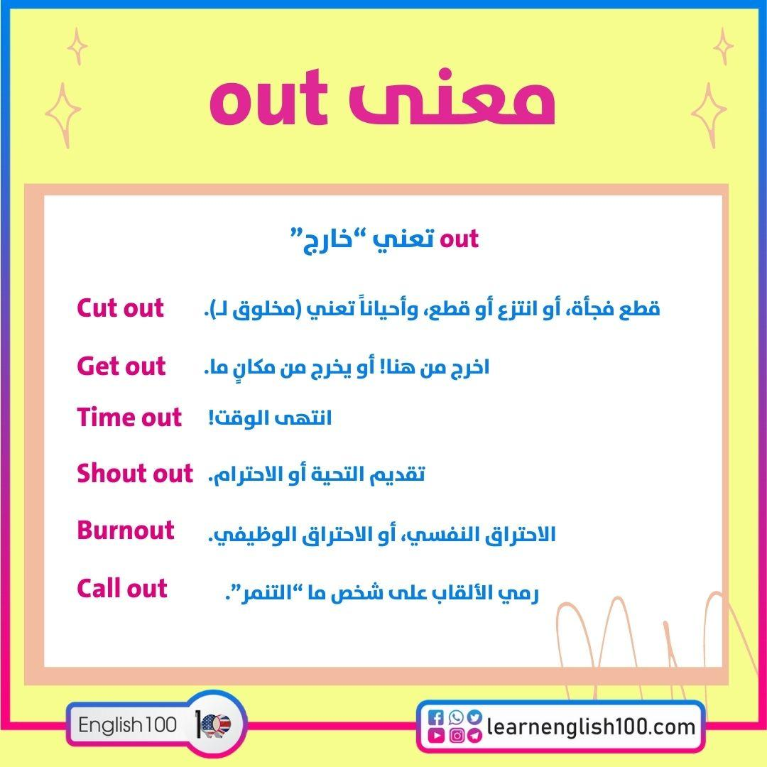 معنى out The Meaning of Out