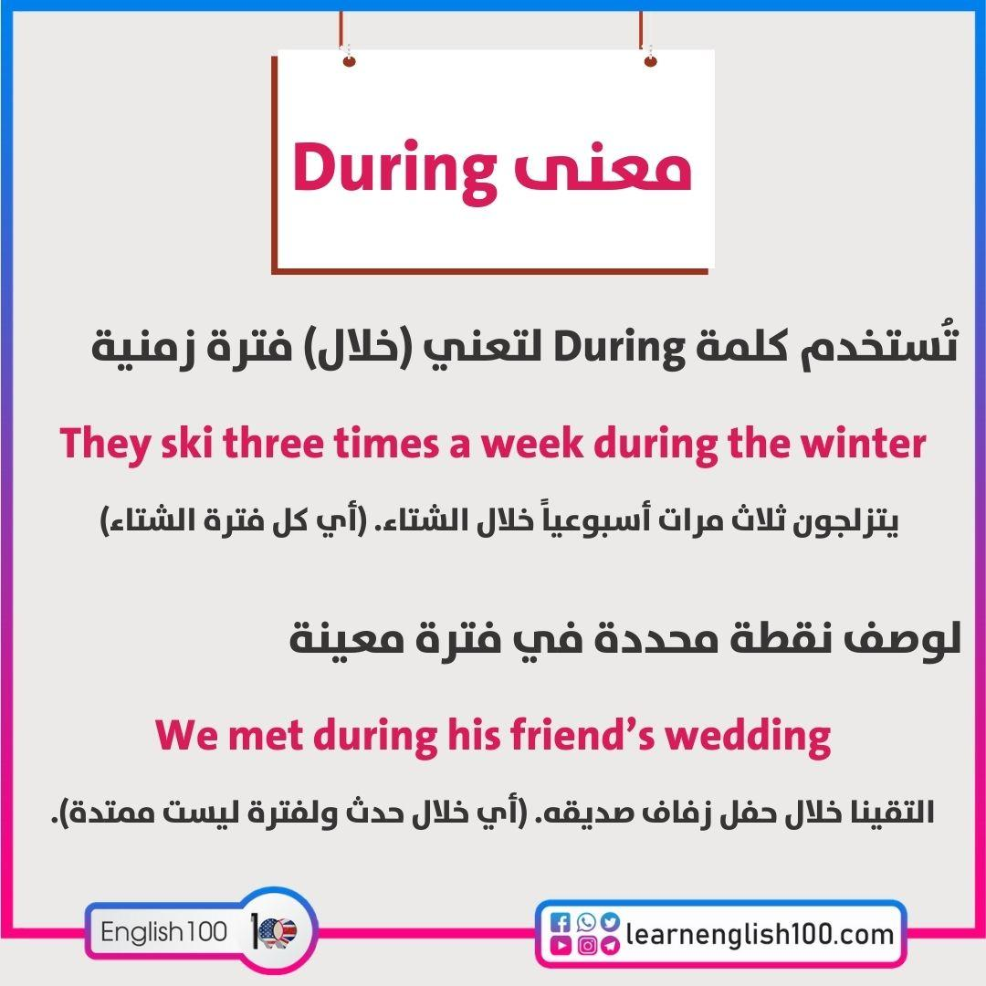 معنى during The Meaning of during