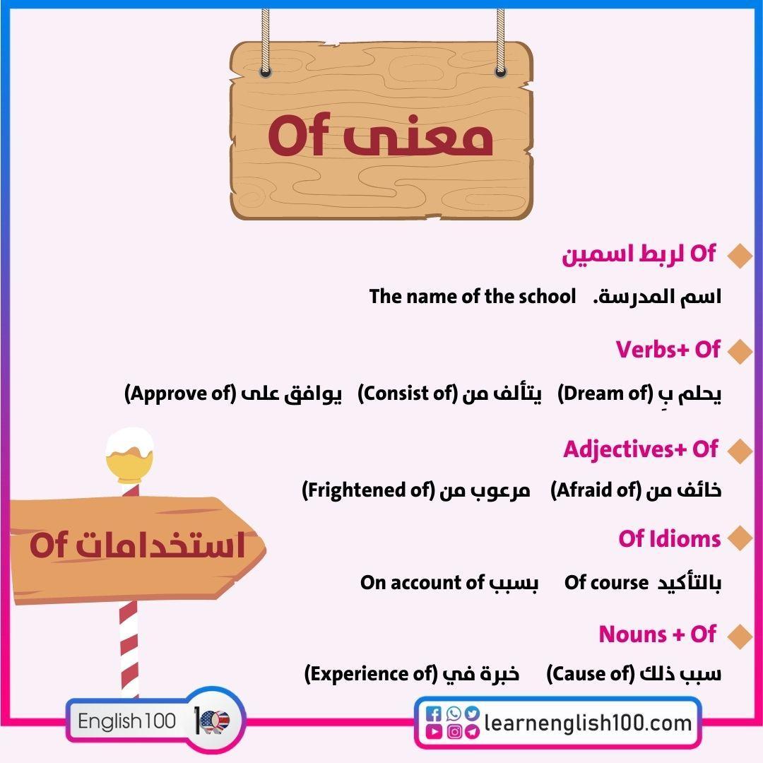 "معنى of The meaning of ""of"""