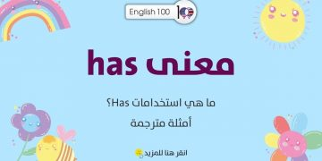 "معنى has مع أمثلة The Meaning of ""Has"" with examples"