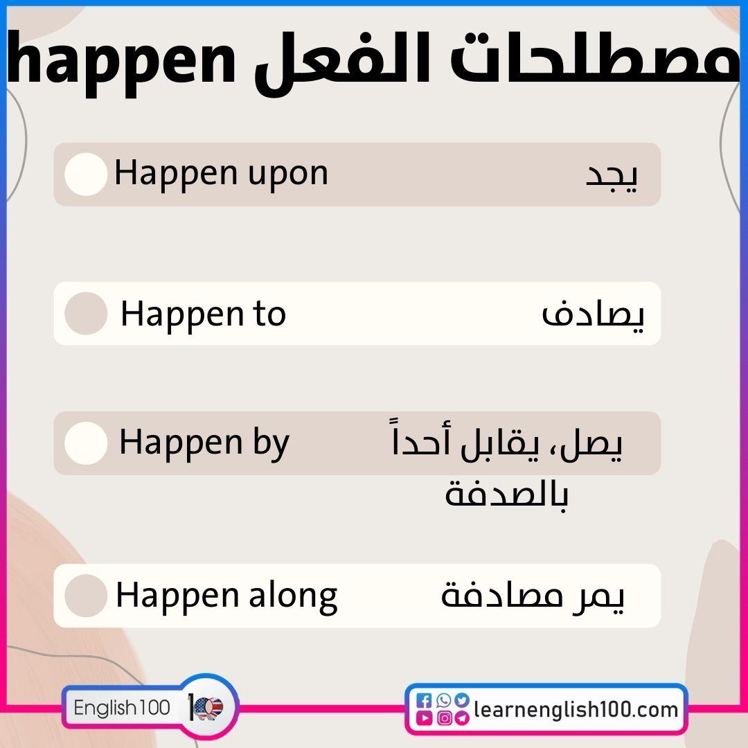 مصطلحات الفعل happen happen-idioms-phrasal-verbs