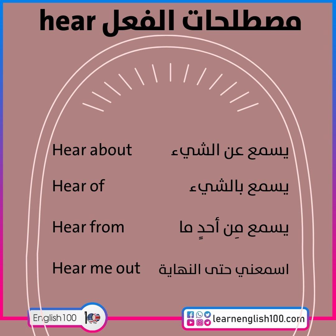مصطلحات الفعل hear hear-idioms-phrasal-verbs