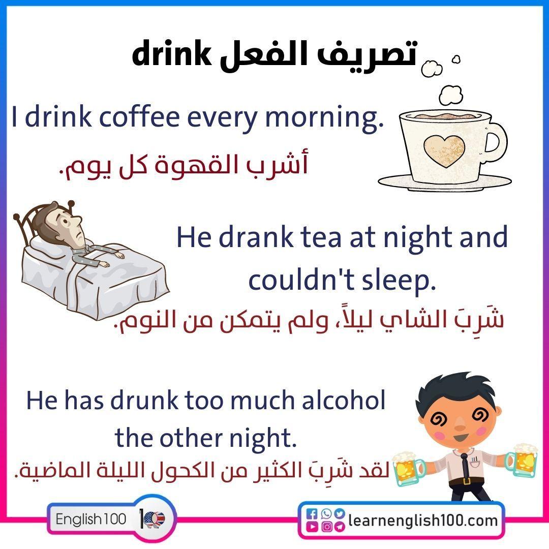 تصريف الفعل drink Conjugation-of-Drink