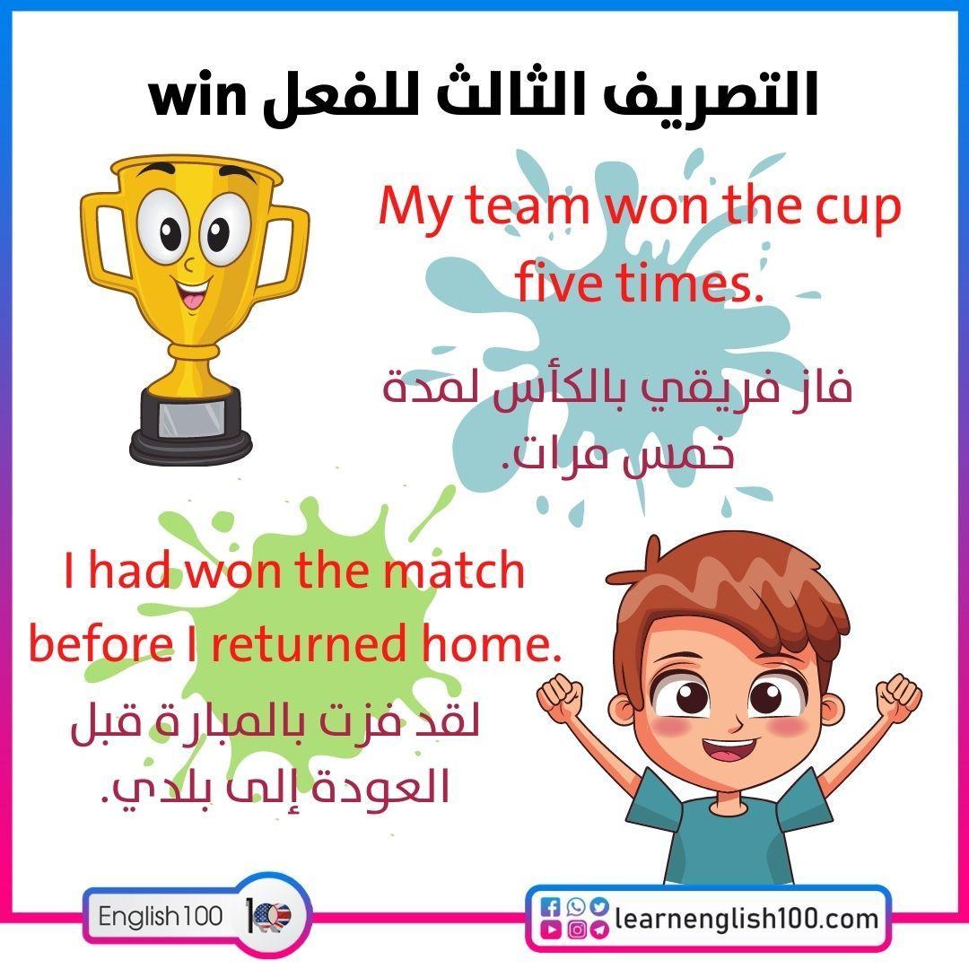 التصريف الثالث للفعل win Third-conjugation-of-the-verb-win