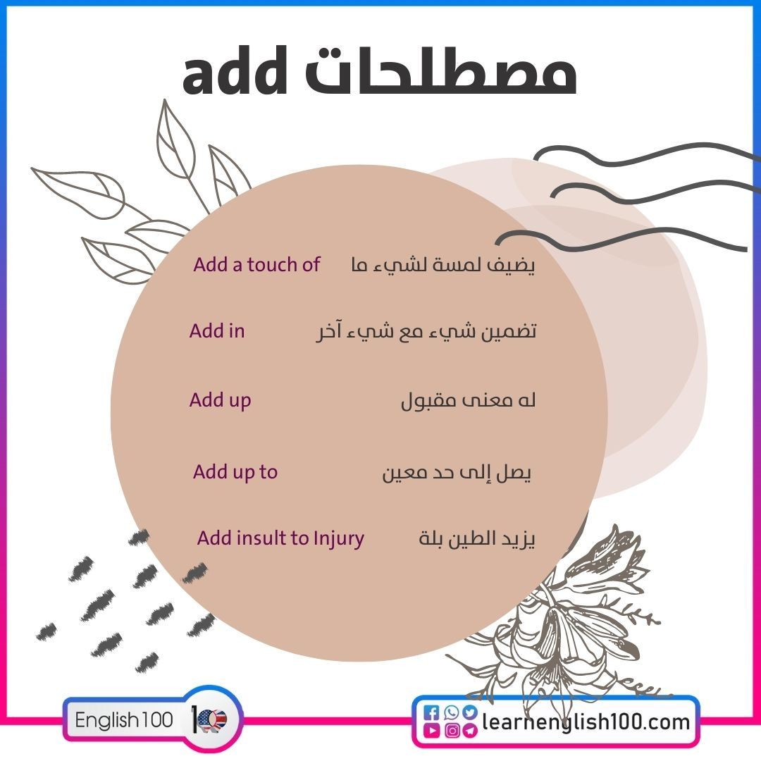 مصطلحات الفعل add add-idioms-phrasal-verbs
