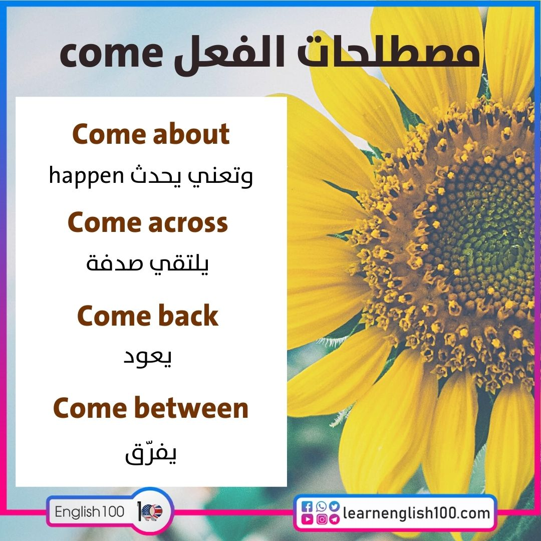 مصطلحات الفعل come come-idioms-phrasal-verbs
