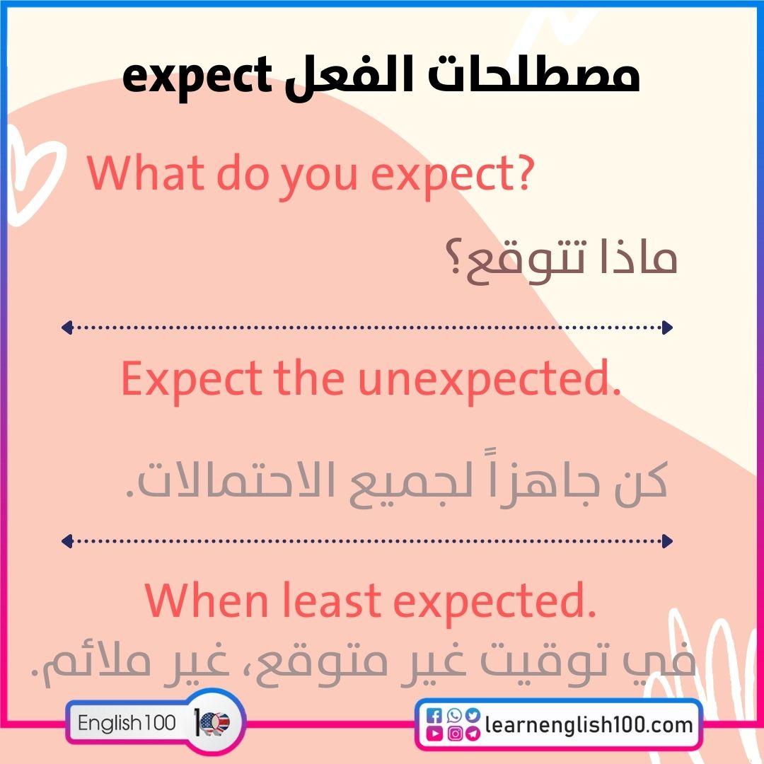 مصطلحات الفعل expect expect-idioms-phrasal-verbs
