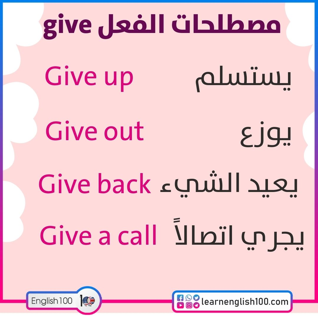 مصطلحات الفعل give give-idioms-phrasal-verbs