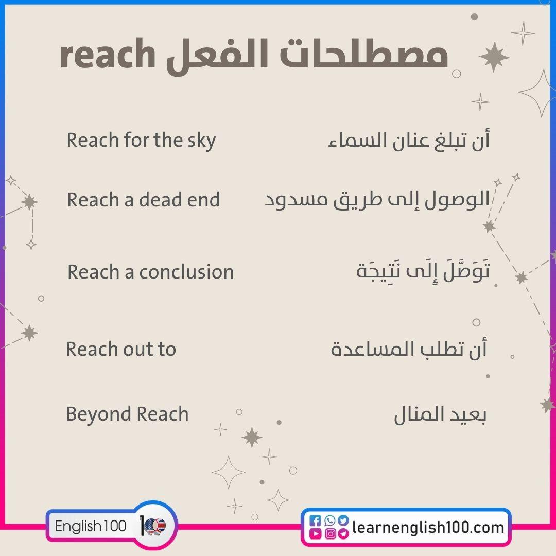 مصطلحات الفعل reach reach-idioms-phrasal-verbs