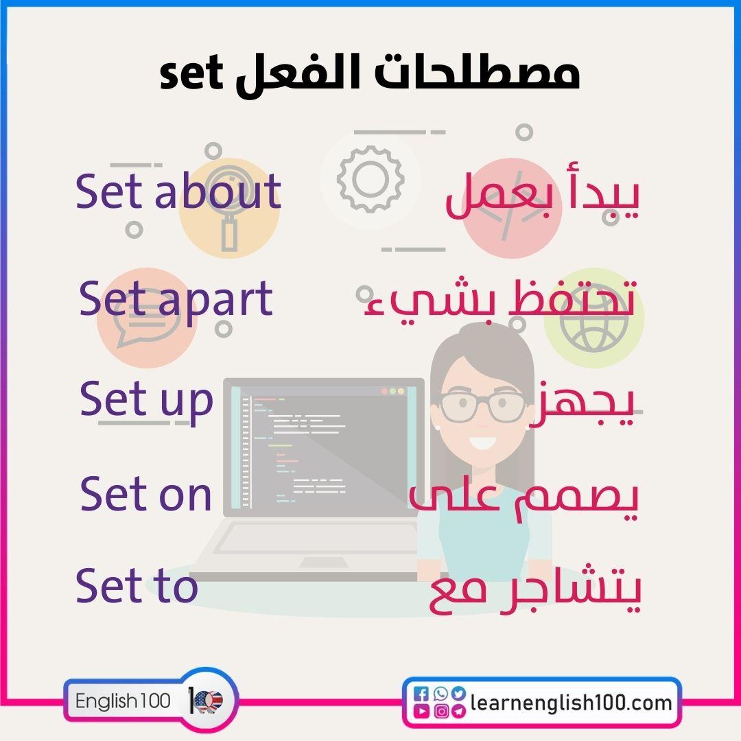 مصطلحات الفعل set set-idioms-phrasal-verbs
