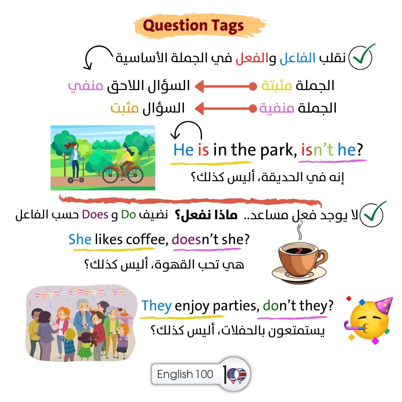 شرح question tags Question Tags Explanation