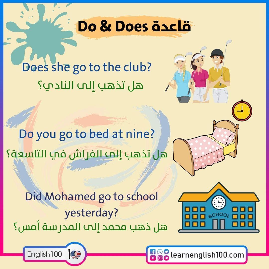قاعدة do does The Rule of do and does
