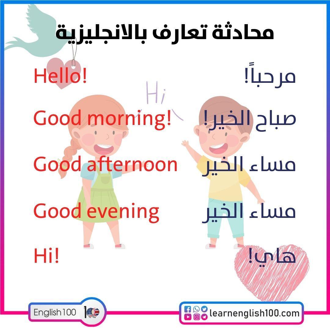 محادثة تعارف بالانجليزية An English Conversation to Get Acquainted