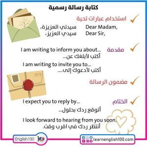 رسالة ايميل بالانجليزي Email in English