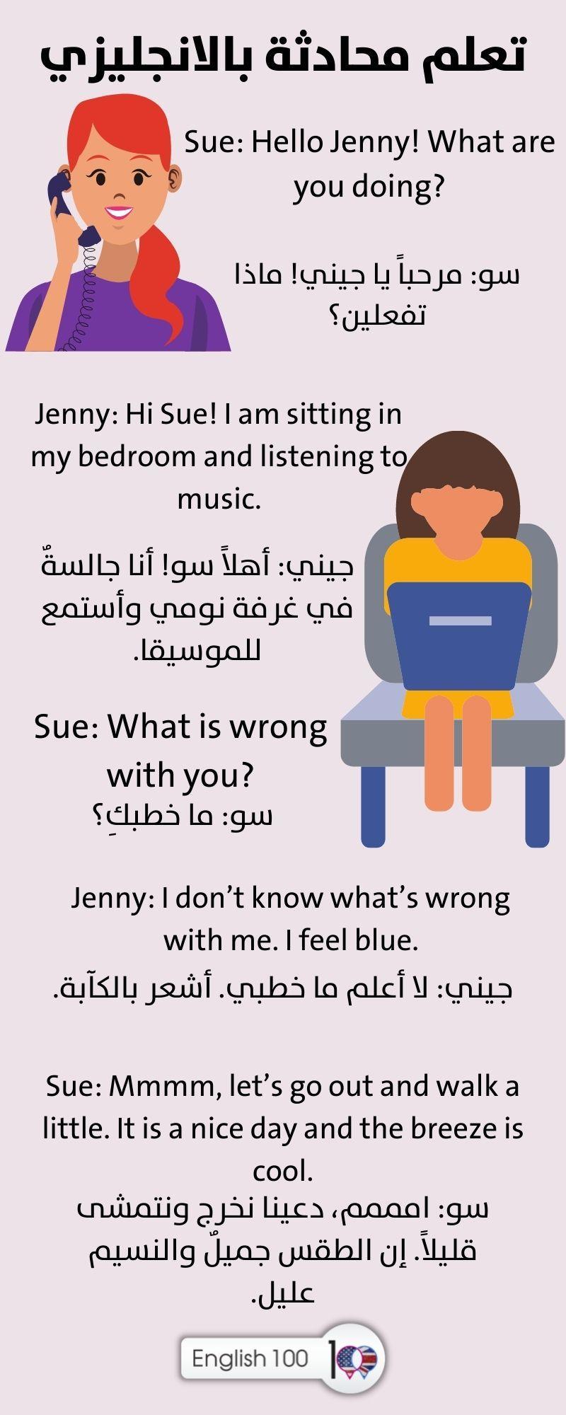 تعلم محادثة بالانجليزي Learning Conversation in English