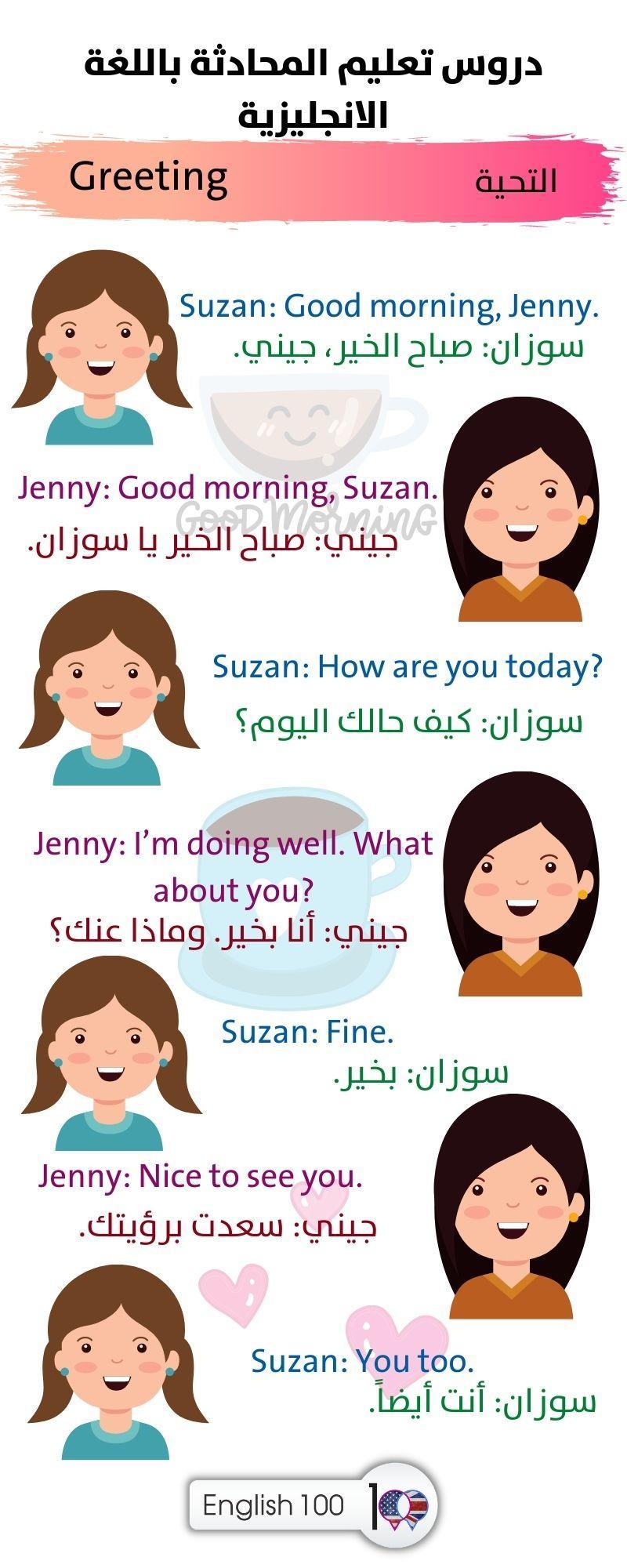 دروس تعليم المحادثة باللغة الانجليزية Learning English conversation lessons