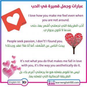 رسائل رومانسية بالانجليزي Romantic Letters in English