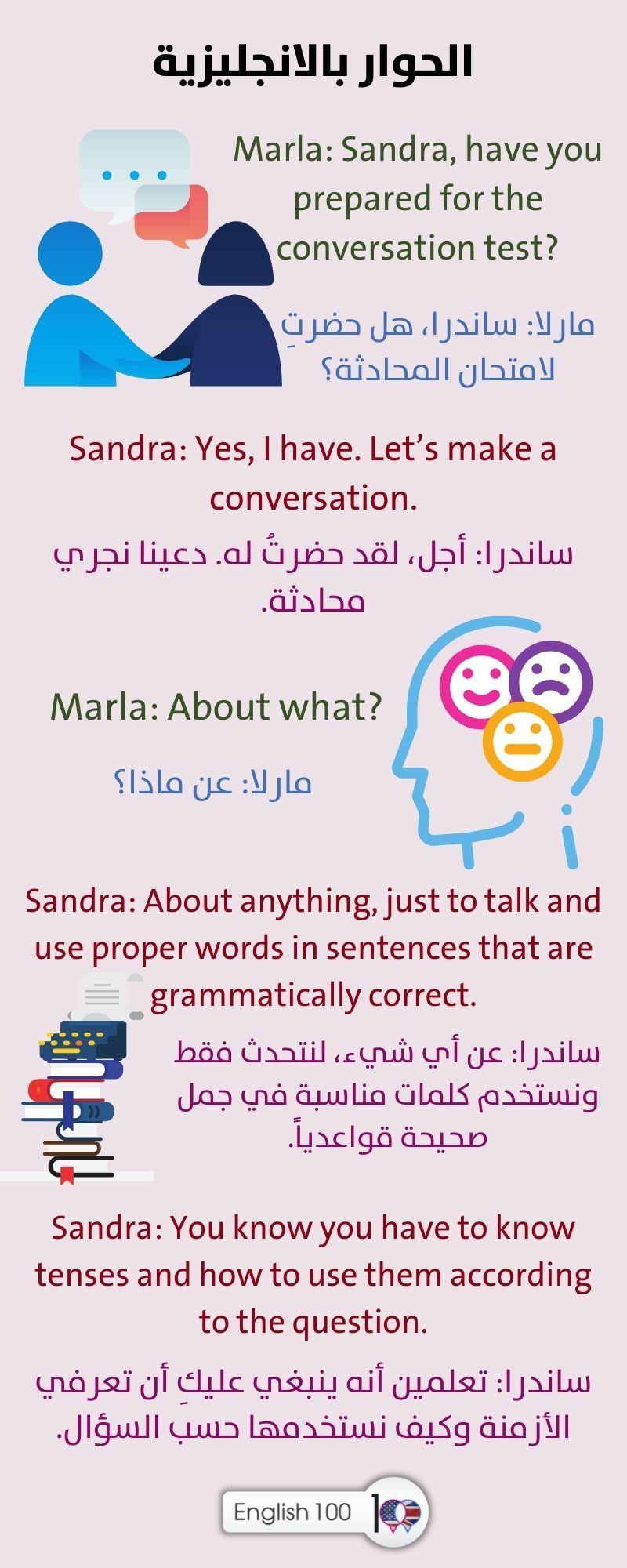 الحوار بالانجليزية The Dialogue in English