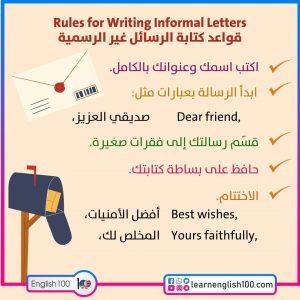 كتابة رسالة بالانجليزية Writing a Letter in English
