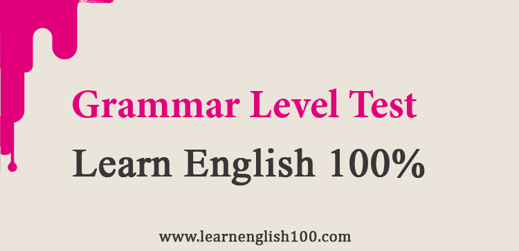 04-Grammar Level Test-Learn English