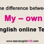 My – own | English online test