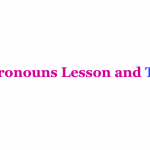 english pronouns Grammar Exercises test