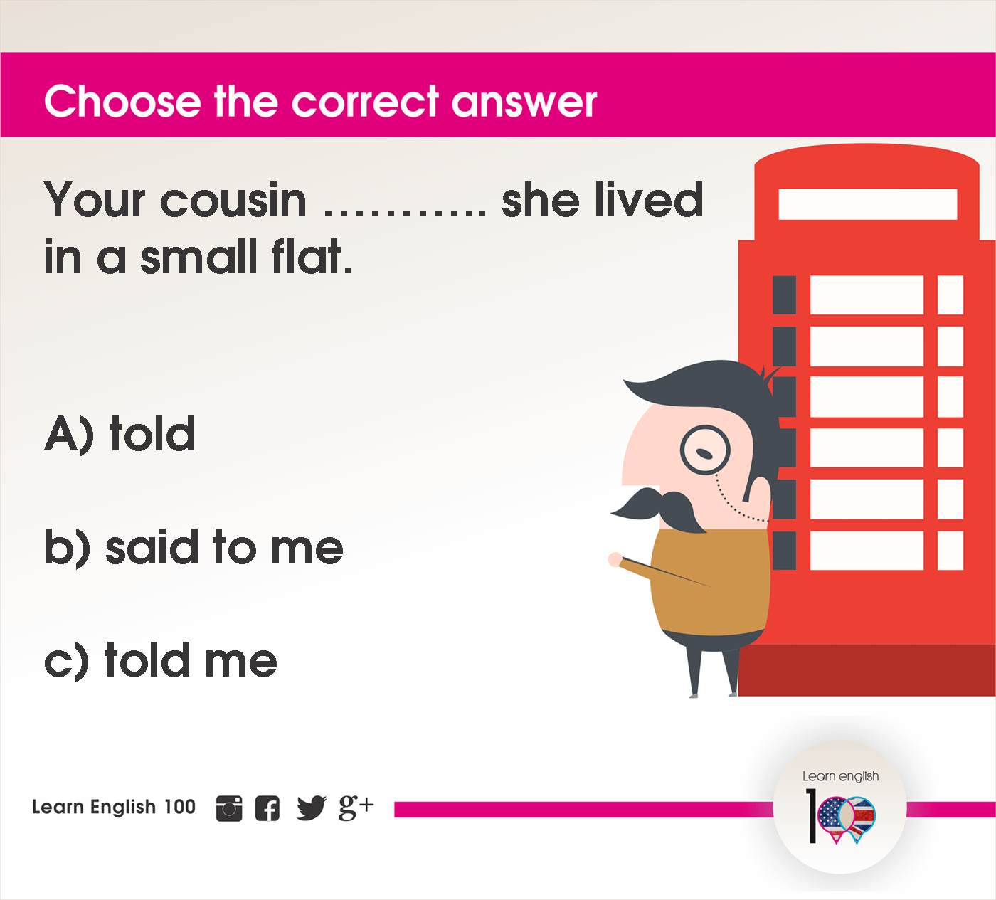 English question107