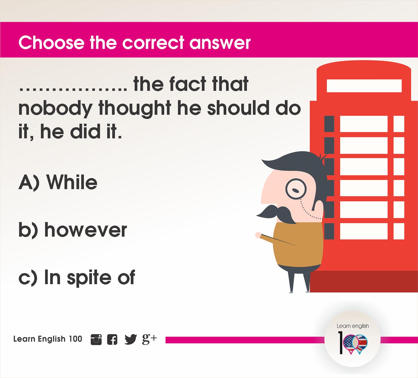 English question114