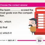 Question 115: The team ………… scored the most goals won the competition.