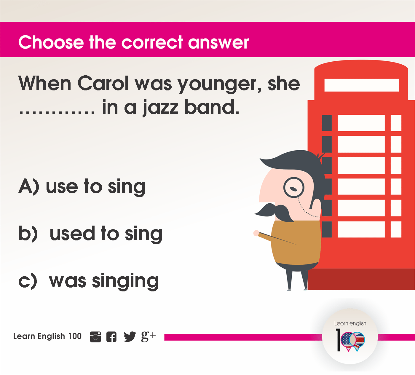 English question21